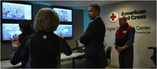 Obama at command center